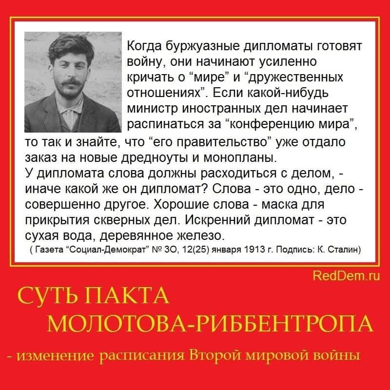 СУТЬ ПАКТА МОЛОТОВА-РИББЕНТРОПА